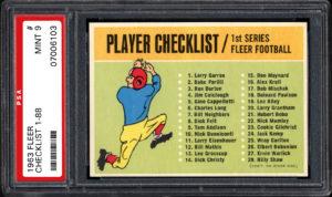 1963 fleer checklist