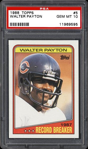 1988 topps walter payton