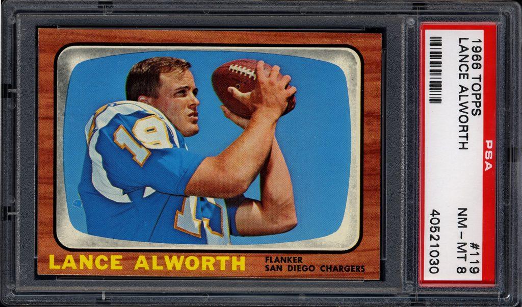 1966 topps lance alworth