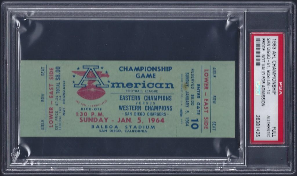 1963 afl championship ticket