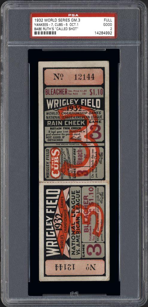 1932 world series ticket