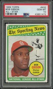 1969 topps bob gibson all-star card
