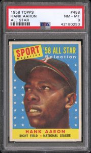 1958 topps hank aaron all-star card